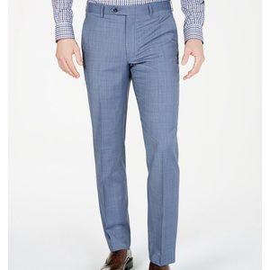 Michael Kors airsoft stretch windowpane suit pants
